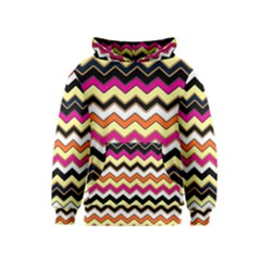 Colorful Chevron Pattern Stripes Kids  Pullover Hoodie