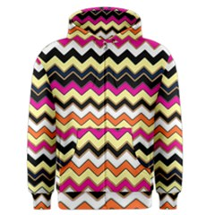 Colorful Chevron Pattern Stripes Men s Zipper Hoodie
