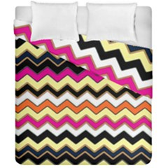 Colorful Chevron Pattern Stripes Duvet Cover Double Side (california King Size)