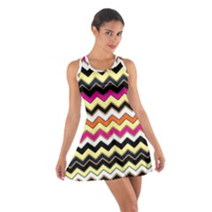 Colorful Chevron Pattern Stripes Cotton Racerback Dress