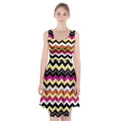Colorful Chevron Pattern Stripes Racerback Midi Dress