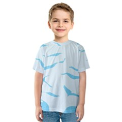 Blue Tiger Animal Pattern Digital Kids  Sport Mesh Tee