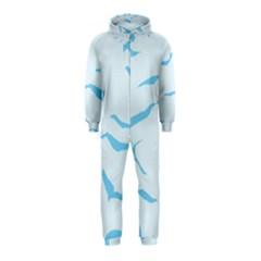 Blue Tiger Animal Pattern Digital Hooded Jumpsuit (kids)