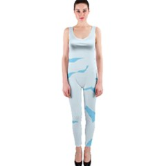 Blue Tiger Animal Pattern Digital Onepiece Catsuit