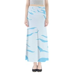 Blue Tiger Animal Pattern Digital Maxi Skirts