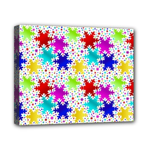 Snowflake Pattern Repeated Canvas 10  X 8