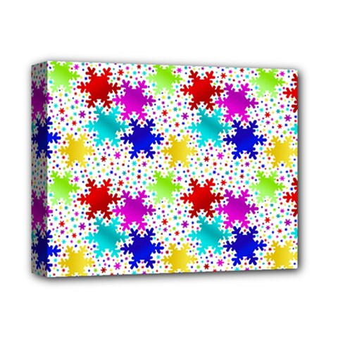 Snowflake Pattern Repeated Deluxe Canvas 14  x 11