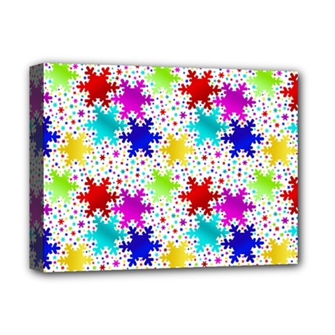 Snowflake Pattern Repeated Deluxe Canvas 16  X 12