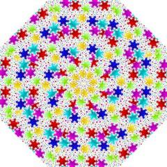 Snowflake Pattern Repeated Hook Handle Umbrellas (medium)