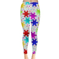 Snowflake Pattern Repeated Leggings