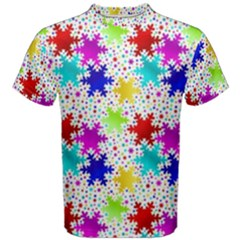 Snowflake Pattern Repeated Men s Cotton Tee