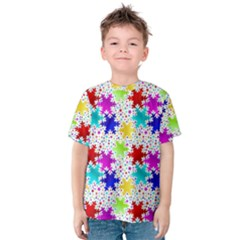 Snowflake Pattern Repeated Kids  Cotton Tee