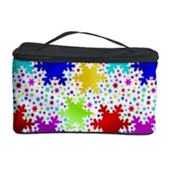 Snowflake Pattern Repeated Cosmetic Storage Case