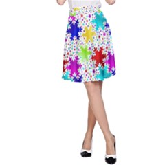 Snowflake Pattern Repeated A Line Skirt
