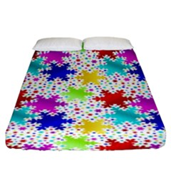 Snowflake Pattern Repeated Fitted Sheet (king Size)