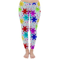 Snowflake Pattern Repeated Classic Winter Leggings