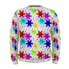 Snowflake Pattern Repeated Men s Sweatshirt