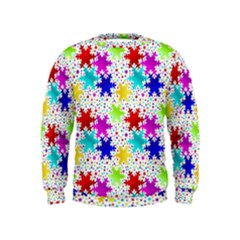 Snowflake Pattern Repeated Kids  Sweatshirt