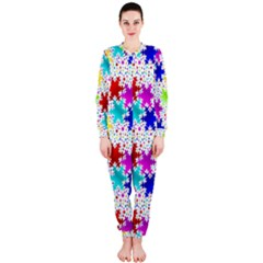 Snowflake Pattern Repeated OnePiece Jumpsuit (Ladies)
