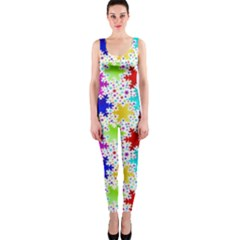 Snowflake Pattern Repeated Onepiece Catsuit