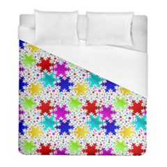 Snowflake Pattern Repeated Duvet Cover (full/ Double Size)