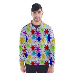 Snowflake Pattern Repeated Wind Breaker (men)