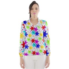 Snowflake Pattern Repeated Wind Breaker (women)