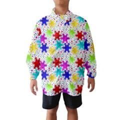 Snowflake Pattern Repeated Wind Breaker (kids)