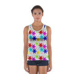 Snowflake Pattern Repeated Women s Sport Tank Top