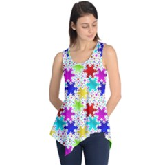 Snowflake Pattern Repeated Sleeveless Tunic