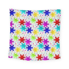 Snowflake Pattern Repeated Square Tapestry (small)