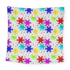 Snowflake Pattern Repeated Square Tapestry (large)