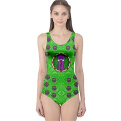 Smoking Hot Cartoon Lady One Piece Swimsuit