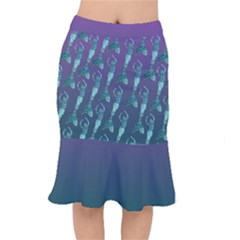 Teal And Purple Short Mermaid Skirt
