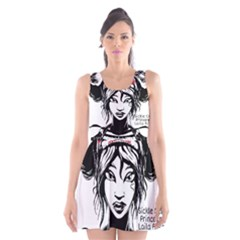 Sickle Cell Is Me Picsart 1482705574799 Scoop Neck Skater Dress