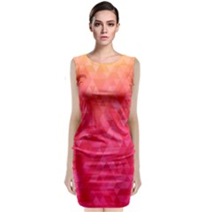 Abstract Red Octagon Polygonal Texture Classic Sleeveless Midi Dress