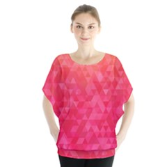 Abstract Red Octagon Polygonal Texture Blouse