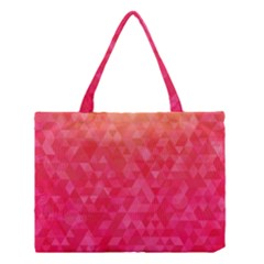 Abstract Red Octagon Polygonal Texture Medium Tote Bag