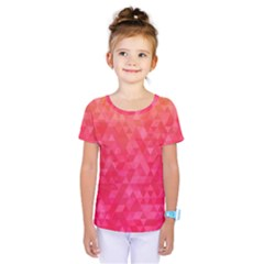 Abstract Red Octagon Polygonal Texture Kids  One Piece Tee