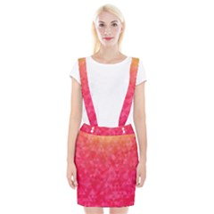 Abstract Red Octagon Polygonal Texture Suspender Skirt