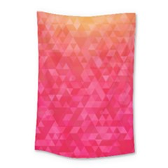 Abstract Red Octagon Polygonal Texture Small Tapestry