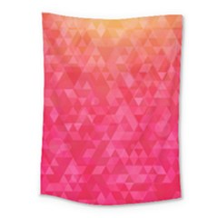 Abstract Red Octagon Polygonal Texture Medium Tapestry