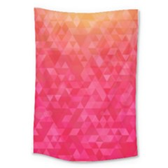 Abstract Red Octagon Polygonal Texture Large Tapestry