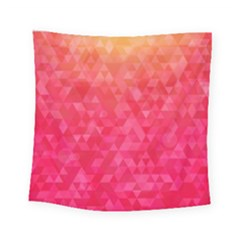 Abstract Red Octagon Polygonal Texture Square Tapestry (small)
