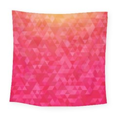 Abstract Red Octagon Polygonal Texture Square Tapestry (large)