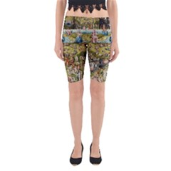 Hieronymus Bosch Garden Of Earthly Delights Yoga Cropped Leggings