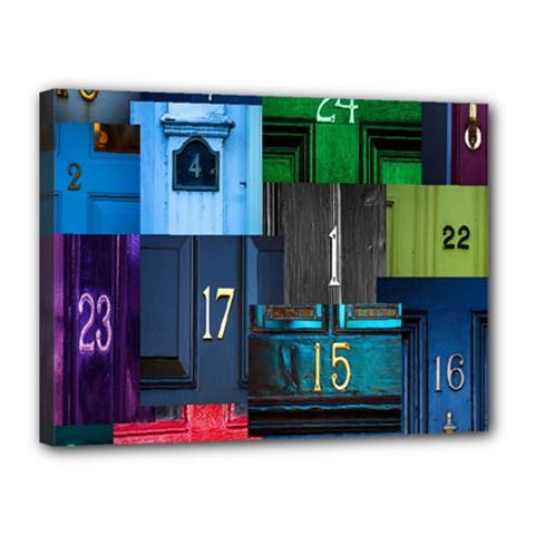 Door Number Pattern Canvas 16  X 12