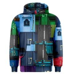 Door Number Pattern Men s Pullover Hoodie