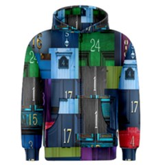 Door Number Pattern Men s Zipper Hoodie