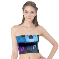 Door Number Pattern Tube Top